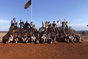 I nostri studenti durante un viaggio nel cuore dell'Australia