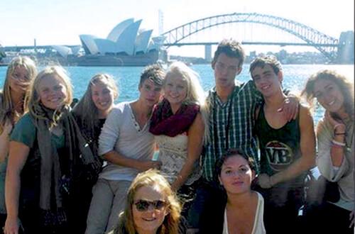 Gruppo di studenti TecAustralia durante una serie di visite a Sydney e dintorni