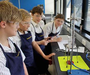 La studio della chimica nelle high schools in Australia prevede lavori di gruppo ed esperimenti pratici