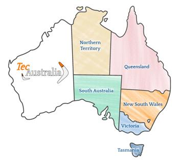 Per 2020 TecAustralia abbiamo nuove destinazioni Victoria, South Australia, Northern Territory, e Tasmania